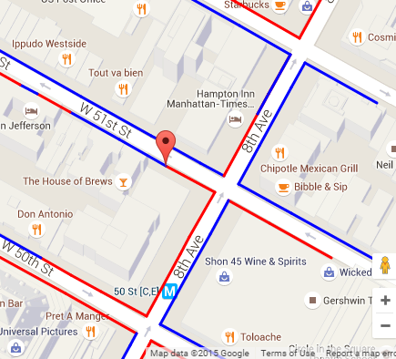opencurb nyc parking regulations on a map